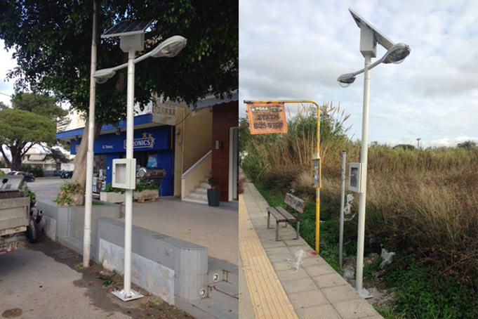 Αυτόνομοι ιστοί φωτισμού στο Δήμο Ρόδου